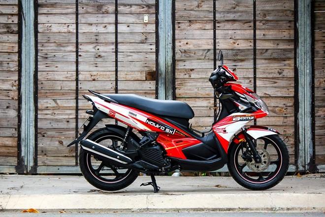 Yamaha nouvo 5 độ tem đấu đầy phong cách và thể thao