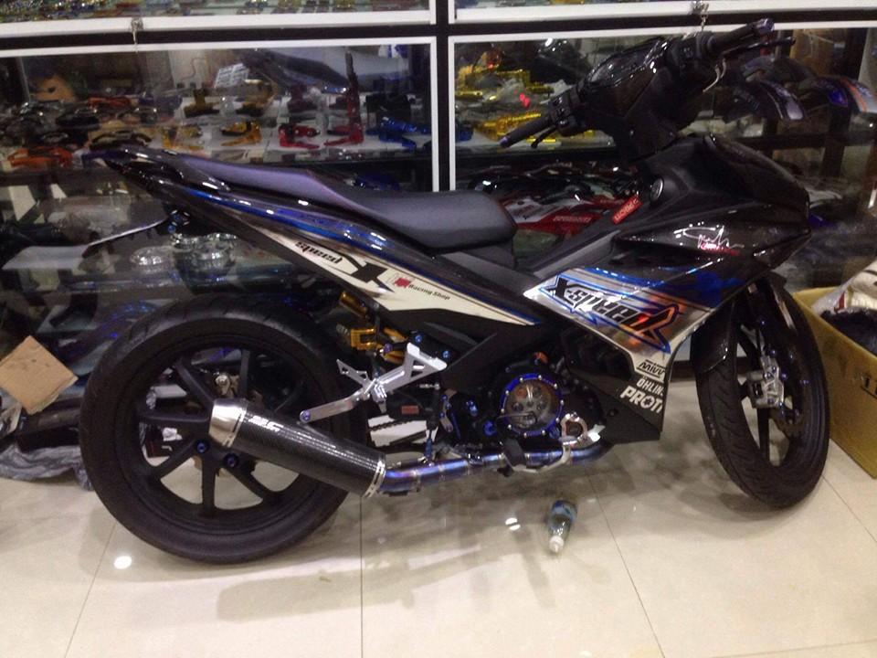 Exciter 150 độ cực ngầu với dàn áo carbon fiber - 2
