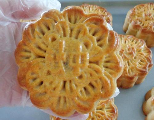 Cách làm bánh trung thu nướng nhân đậu xanh mứt bí - 10