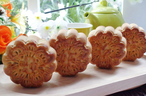 Cách làm bánh trung thu nướng nhân đậu xanh mứt bí - 12