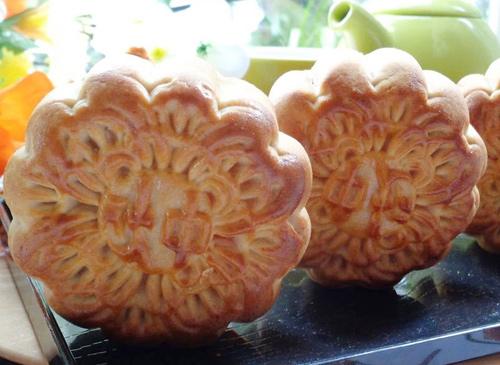 Cách làm bánh trung thu nướng nhân đậu xanh mứt bí - 13