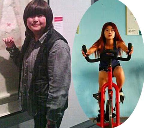 Cô gái giảm 45kg để thành huấn luyện viên thể dục