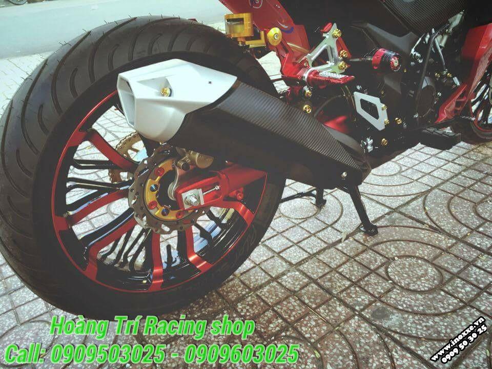 Winner 150 độ nhẹ một số món kiểng tông đỏ theo xe