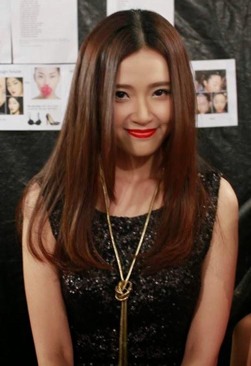 15 kiểu tóc mái dài rẽ ngôi giữa đẹp như hot girl việt 2016 - 8