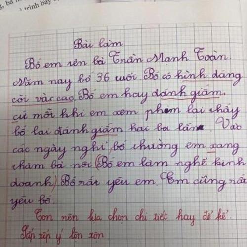 cười ra nước mắt với 30 bài văn tả thực bá đạo của trẻ tiểu học - 1