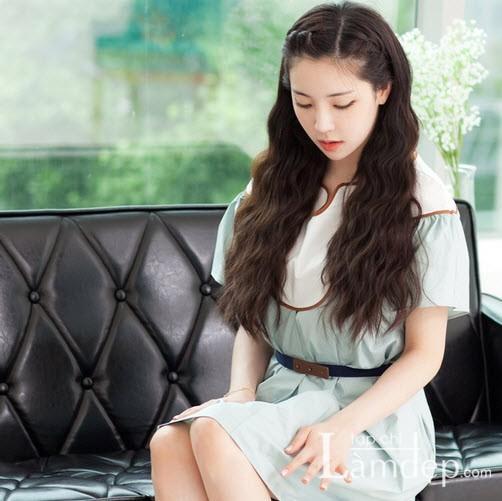 Kiểu tóc dài uốn xoăn sóng nhỏ đẹp 2016 cuốn hút sao kpop hàn quốc - 2