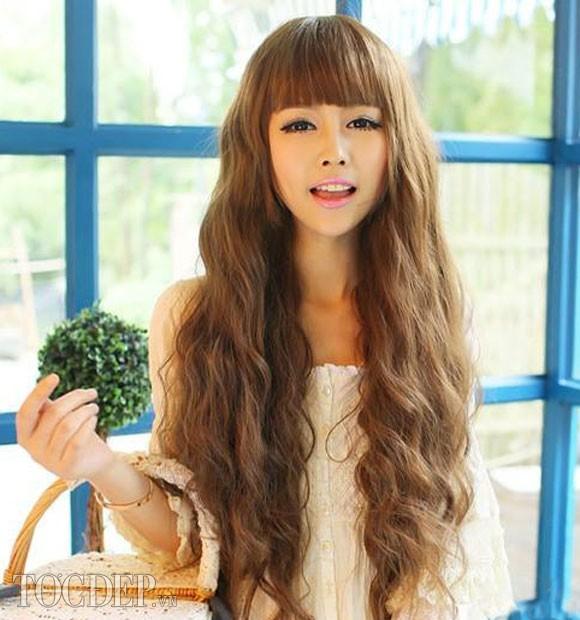 Kiểu tóc dài uốn xoăn sóng nhỏ đẹp 2016 cuốn hút sao kpop hàn quốc - 3