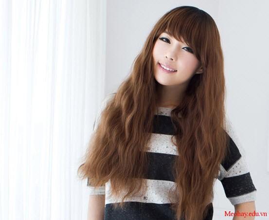 Kiểu tóc dài uốn xoăn sóng nhỏ đẹp 2016 cuốn hút sao kpop hàn quốc - 4