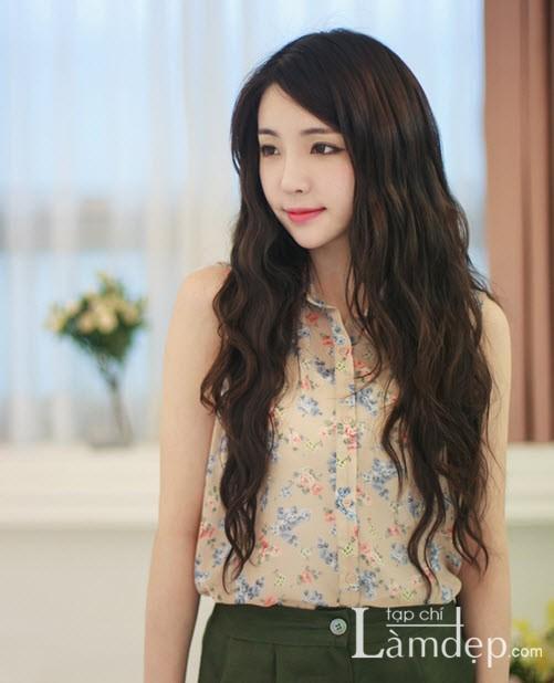 Kiểu tóc dài uốn xoăn sóng nhỏ đẹp 2016 cuốn hút sao kpop hàn quốc - 5