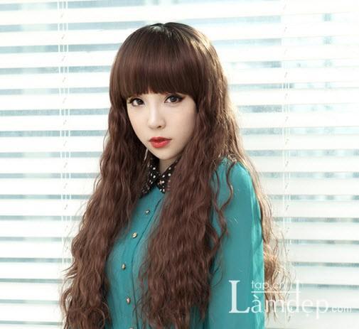Kiểu tóc dài uốn xoăn sóng nhỏ đẹp 2016 cuốn hút sao kpop hàn quốc - 6