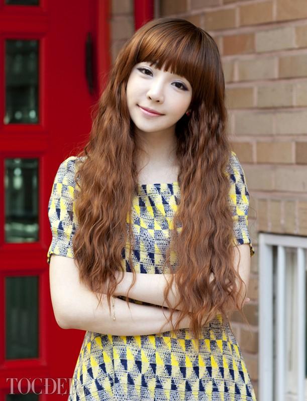 Kiểu tóc dài uốn xoăn sóng nhỏ đẹp 2016 cuốn hút sao kpop hàn quốc - 7