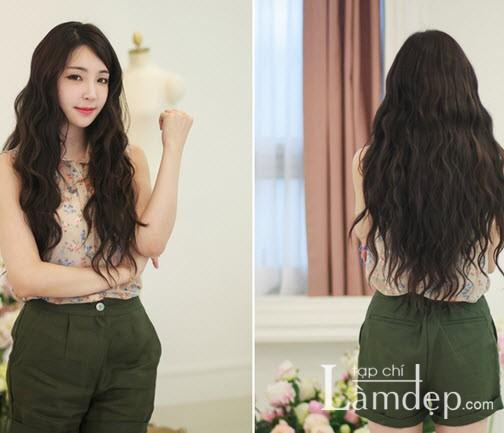 Kiểu tóc dài uốn xoăn sóng nhỏ đẹp 2016 cuốn hút sao kpop hàn quốc - 8