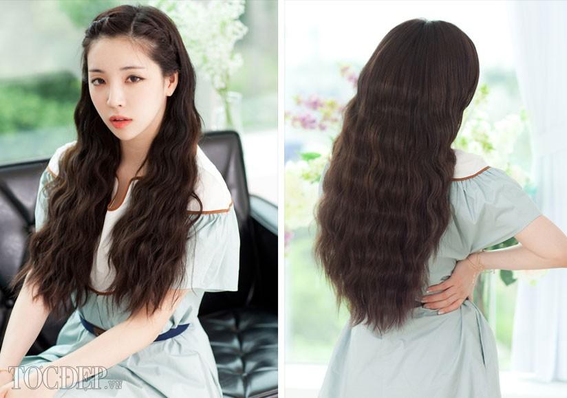 Kiểu tóc dài uốn xoăn sóng nhỏ đẹp 2016 cuốn hút sao kpop hàn quốc - 9