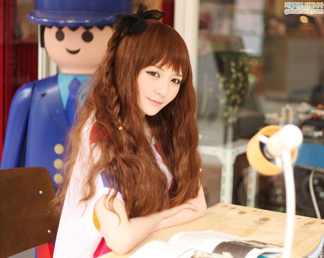 Kiểu tóc dài uốn xoăn sóng nhỏ đẹp 2016 cuốn hút sao kpop hàn quốc - 12