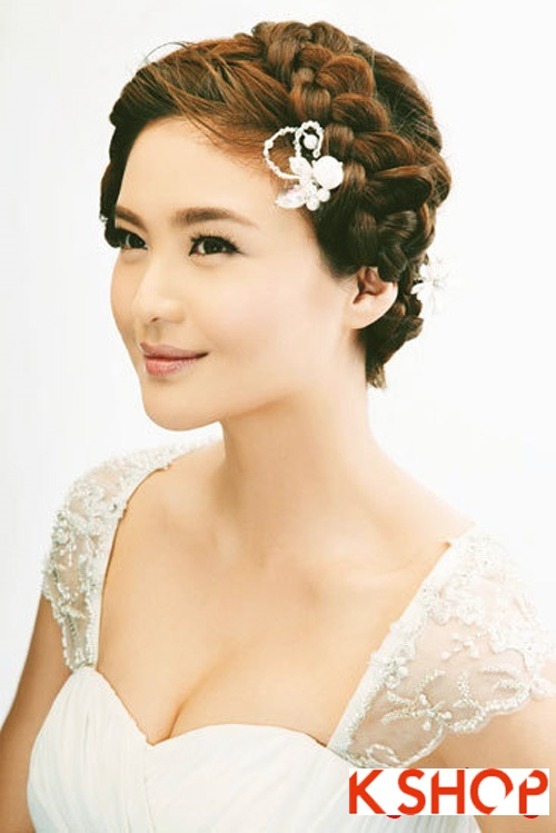 Kiểu tóc tết cô dâu đẹp 2017 đơn giản lãng mạn trong ngày cưới - 1