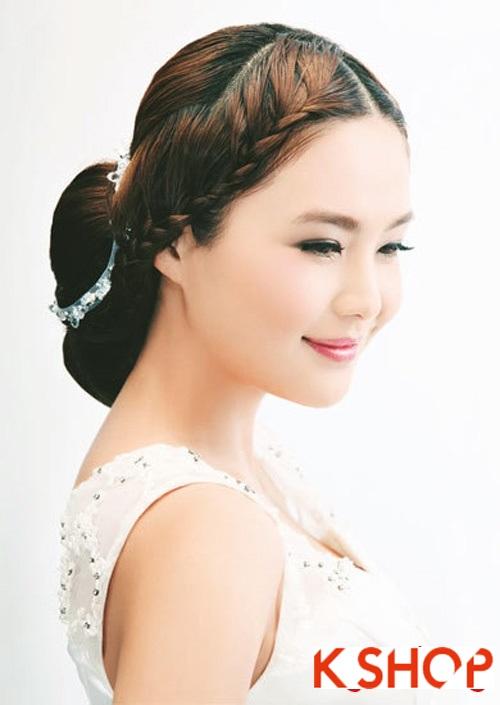 Kiểu tóc tết cô dâu đẹp 2017 đơn giản lãng mạn trong ngày cưới - 7