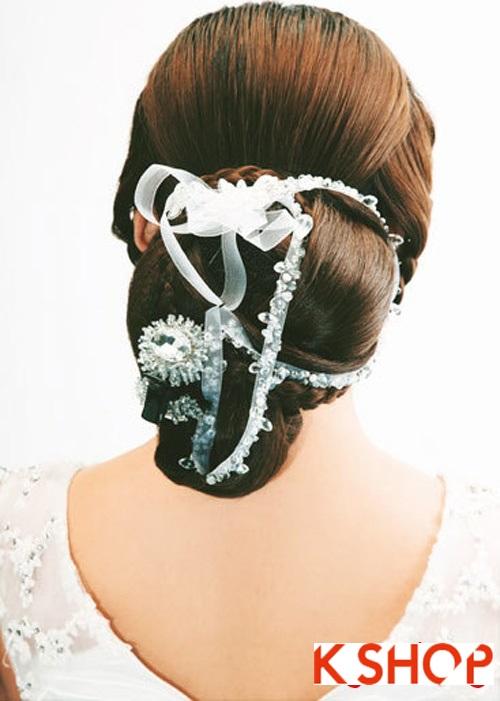 Kiểu tóc tết cô dâu đẹp 2017 đơn giản lãng mạn trong ngày cưới - 8