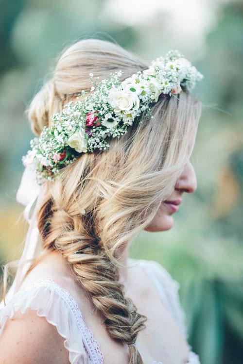 Tóc tết cô dâu đẹp dễ thương trong ngày cưới 2016 cho nàng mặt tròn - 7