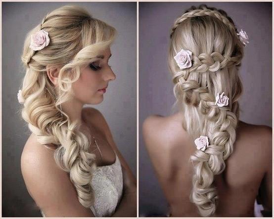 Tóc tết cô dâu đẹp dễ thương trong ngày cưới 2016 cho nàng mặt tròn - 8