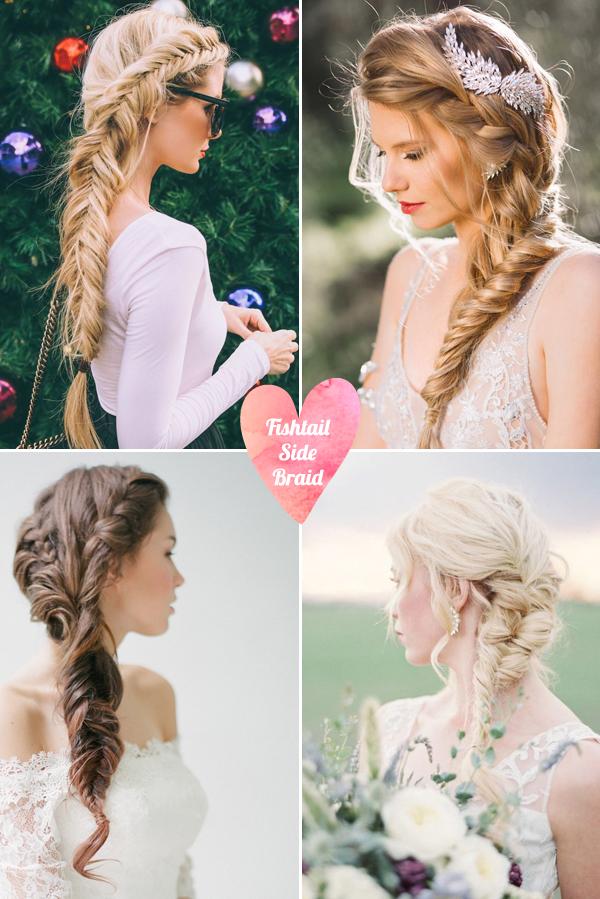 Tóc tết cô dâu đẹp dễ thương trong ngày cưới 2016 cho nàng mặt tròn - 10