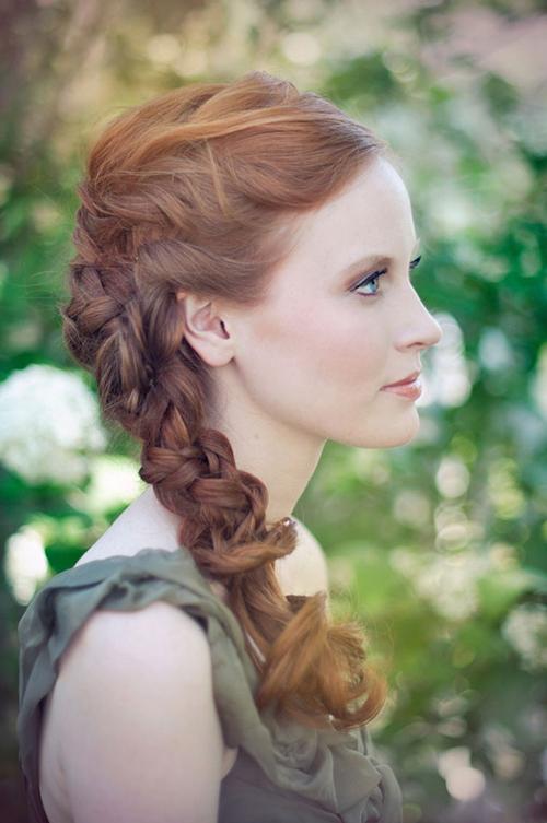 Tóc tết cô dâu đẹp dễ thương trong ngày cưới 2016 cho nàng mặt tròn - 11