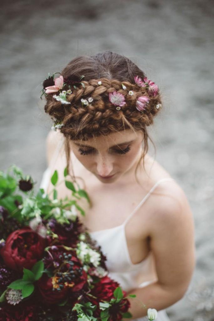 Tóc tết vương miện đẹp cho cô dâu sang trọng ngày cưới 2016 - 3
