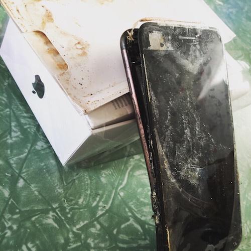 iphone 7 phát nổ khi còn trong hộp - 1