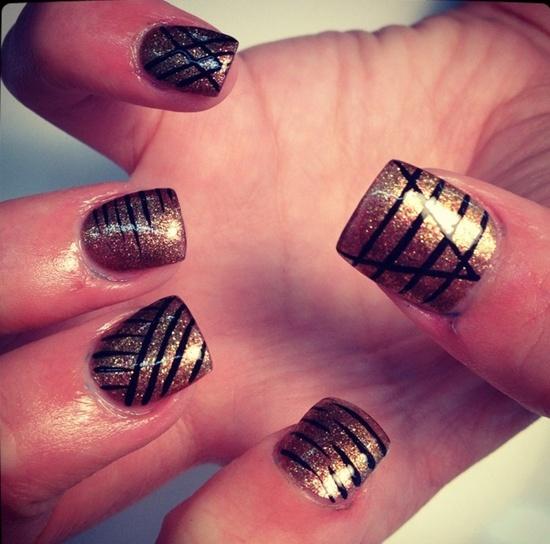 13 mẫu nail kẻ sọc hàn quốc đẹp 2017 cho nàng cá tính ấn tượng - 4