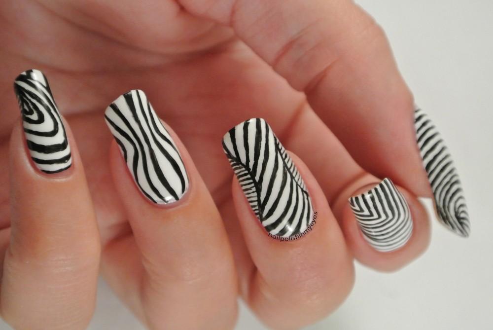 13 mẫu nail kẻ sọc hàn quốc đẹp 2017 cho nàng cá tính ấn tượng - 13