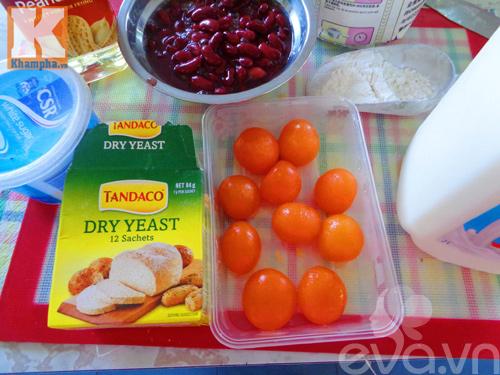 Bánh bao nhân đậu đỏ trứng muối siêu hấp dẫn - 1