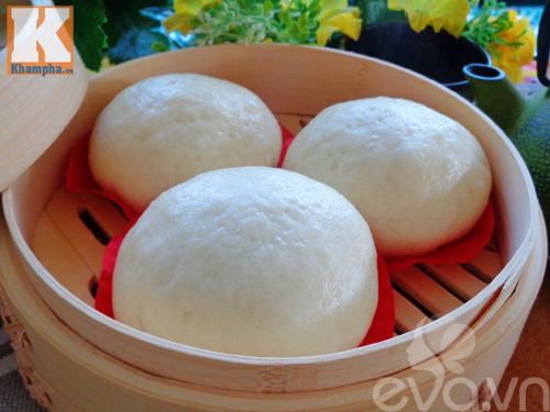 Bánh bao nhân đậu đỏ trứng muối siêu hấp dẫn - 9