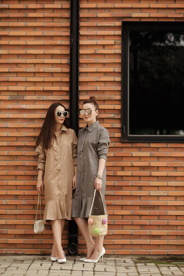 Cặp chị em sành điệu nhất việt nam mách cách che bụng mỡ hiệu quả từ váy áo giá rẻ - 16