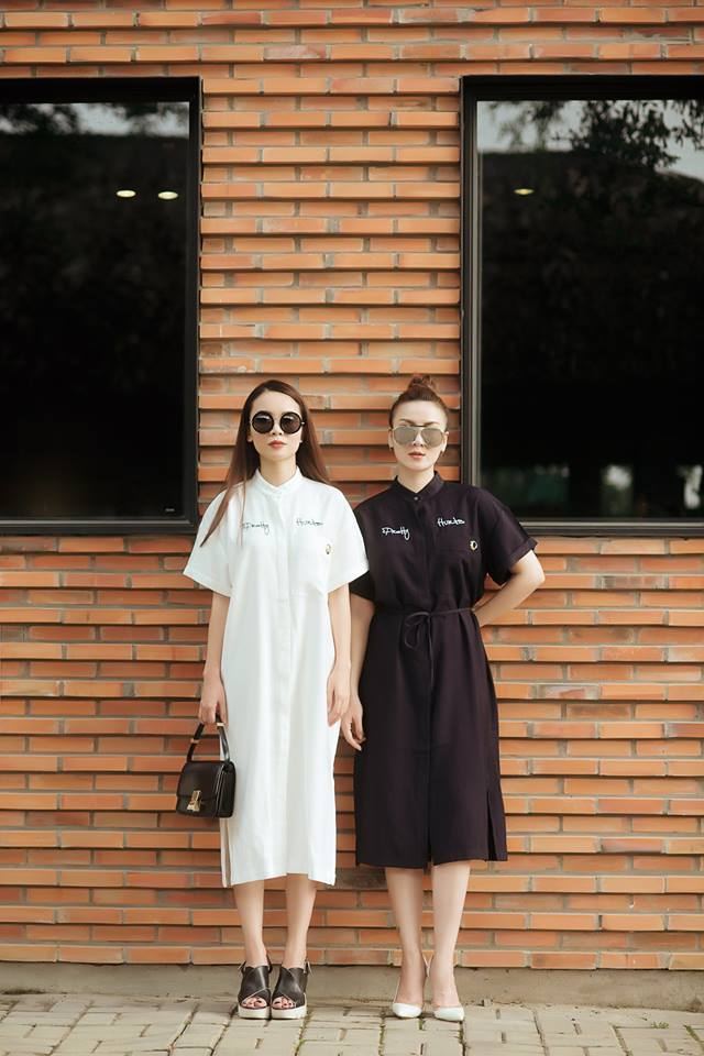 Cặp chị em sành điệu nhất việt nam mách cách che bụng mỡ hiệu quả từ váy áo giá rẻ - 17