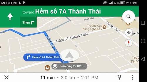 Google maps dẫn đường bằng giọng nói tiếng việt - 1