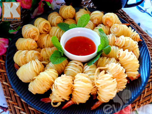 Khoai tây cuộn tôm món ngon đãi khách - 1