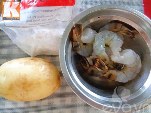 Khoai tây cuộn tôm món ngon đãi khách - 2