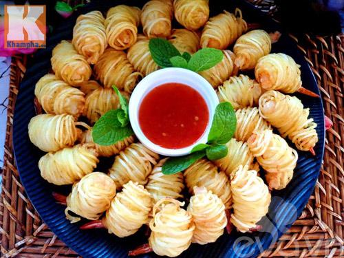 Khoai tây cuộn tôm món ngon đãi khách - 7