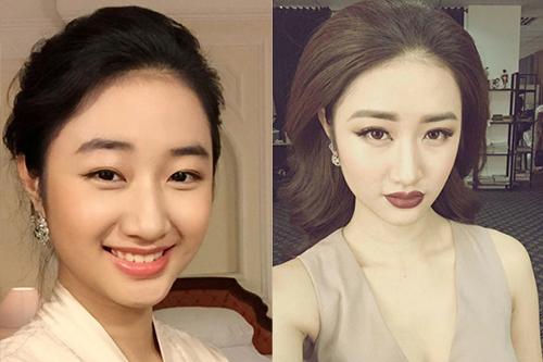 Phạm hương kỳ duyên biến hóa chóng mặt khi đổi cách make up