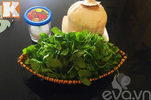 Sinh tố rau má trái dừa thanh mát - 1