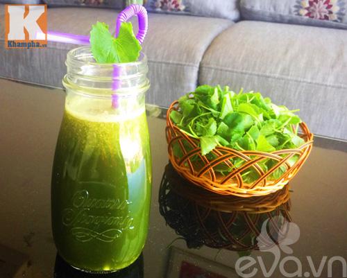 Sinh tố rau má trái dừa thanh mát - 6